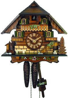 Chalet Cuckoo Clocks Cuckoo Clock 1-day-movement Chalet-Style 23cm by August Schwer