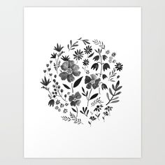 GARDEN GRAY Art Print by Kelli Murray. Worldwide shipping available at Society6.com. Just one of millions of high quality products available.
