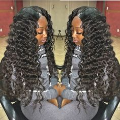 Brazilian Human Hair Full Lace Front Wigs For Black Women Unprocessed High Density U Part Wig Water Wave On Hot Sale Human Hair Lace Wigs, Remy Human Hair, Human Wigs, Curly Hair Styles, Natural Hair Styles, U Part Wig, My Hairstyle, Hairstyle Ideas, Hair Laid