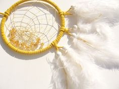 ZWILLING- Gelber Traumfänger mit goldgelben Citrin von Traumnetz-com :  Traumfänger, Schmuck, Bilder auf DaWanda.com