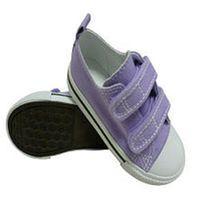 Koala Kids Boys Purple Canvas Double Touch Closure Sneakers