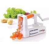 Amazon.com: Paderno World Cuisine A4982799 Tri-Blade Vegetable Spiral Slicer…