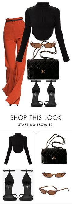 """Sin título #4298"" by camilae97 ❤ liked on Polyvore featuring Chanel and Yves Saint Laurent"