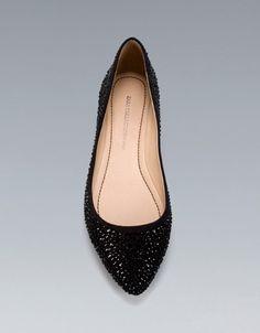 SHINY FLAT COURT SHOE - Flats - Shoes - Woman - ZARA United States
