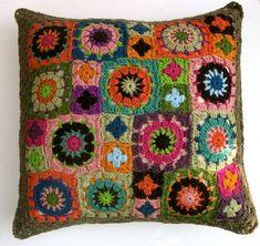 Folk City Handmade Mixed Metaphor Crocheted Pillow. $74.00, via Etsy.