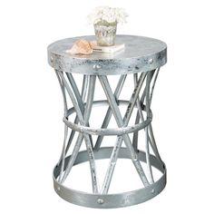 Philippo Side Table in Silver / $175 / 23.5 h x 19 dia