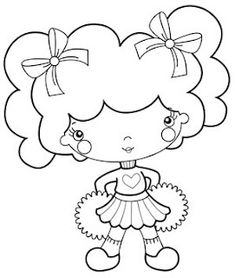 Flores & Mimos: Para pintar e bordar!!! Coloring Pages For Girls, Coloring Book Pages, Coloring For Kids, Free Coloring, Pretty Drawings, Colorful Drawings, Baby Embroidery, Embroidery Patterns, Strawberry Shortcake Coloring Pages
