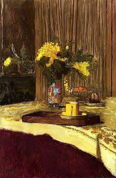 Bouquet of Mimosa on a Table / Edouard Vuillard