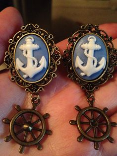 Girl Plugs Anchor Dangle Plugs for by GlitterstormFashion on Etsy, $16.00