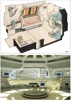 Futuristic Interior, medlab concept prometheus surgical unit (medpod):