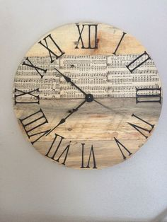 A personal favorite from my Etsy shop https://www.etsy.com/listing/456132130/vintage-song-book-hymnal-pallet-clock-12