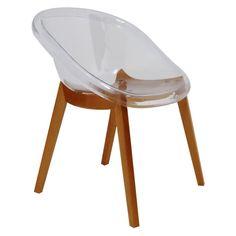 Cadeira Sala de Jantar Shell Transparente