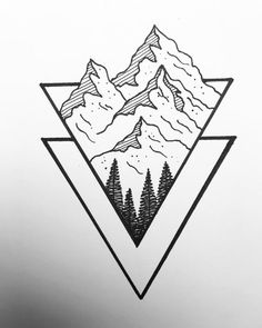 Easy Doodles Drawings, Cute Easy Drawings, Mini Drawings, Art Drawings Sketches Simple, Pencil Art Drawings, Easy Nature Drawings, Beautiful Easy Drawings, Fun Sketches, Easy Drawings For Beginners