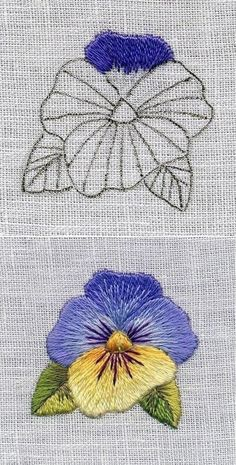 Hand Embroidery Patterns Flowers, Basic Embroidery Stitches, Crewel Embroidery Kits, Creative Embroidery, Hand Embroidery Designs, Embroidery Techniques, Cross Stitch Embroidery, Brazilian Embroidery, Crochet