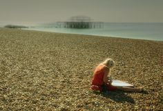 """""""Lifeguard"""" by Nick Board. """"She was starting her shift before the crowds at Brighton beach."""" #FreshStartPhotos"""