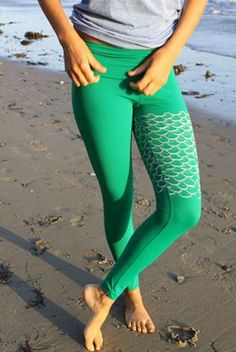 Purusha People Mermaid Yoga leggings! I want!
