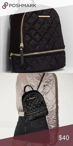 1a302dc669d ALDO edroiana black velvet velour mini backpack