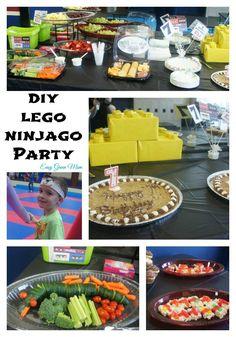 DIY Lego Ninjago Party Ideas from Easy Green Mom. #diy #lego #party