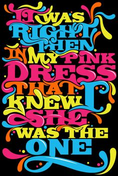 Typographic Poster: It Was Right Then