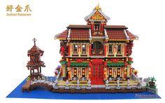 Lego Castle, Lego Projects, Japanese Architecture, Seafood Restaurant, Lego Building, Lego Creations, Lego Ninjago, Lego City, Legos