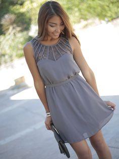 'Genevieve' Lace Detail Shift Dress