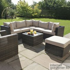 Maze London Rattan Corner Sofa Set & Armchair Set - Rattan Outdoor Sofas