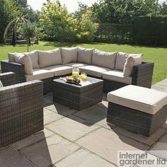 Maze London Rattan Corner Sofa Set & Armchair Set - Rattan Outdoor Sofas
