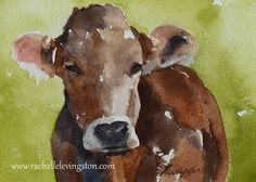 Farm art PRINT COW PRINT from original by rachellelevingston, $12.00