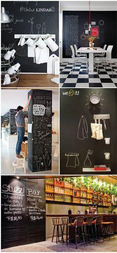 Tinta lousa em casa! #tintalousa #lousa #blackboard #giz #casadasamigas