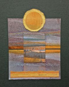 """""""River Moods 15"""" by collage artist, Judith Bergerson from Wyoming, Minnesota"""