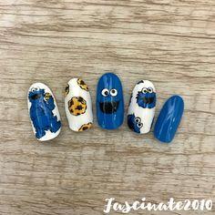 Disney Acrylic Nails, Colored Acrylic Nails, Disney Nails, Cartoon Nail Designs, Disney Nail Designs, Grunge Nails, Swag Nails, Monster Inc Nails, Tulip Nails