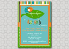 Bugs Birthday Party Invitation  Beetle printable by SwishDesigns, $15.00