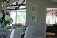 Sherwin Williams - Agreeable Gray (has a bit of taupe for a warmer color)