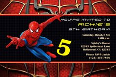 Free Printable Spiderman Birthday Invitation Templates Hair - Spiderman birthday invitation template