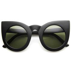 fa1e3f6af18 Designer Inspired Large Round Circle Pointed Cat Eye Sunglasses 9180  Sunglasses Women