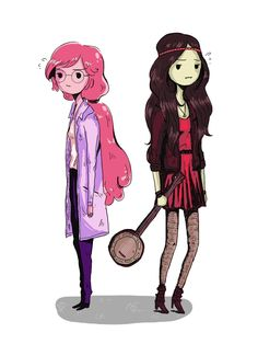 niaofnarnia:  I asked my friend cinymae to tell me something to draw and she said bubbline <s>but this isn't exactly bubbline.</s> Hadn't drawn them in a while D: but here they are anyway.