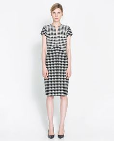 Robe pied - de - poule - Robes - Femme - Nouvelle collection | ZARA France
