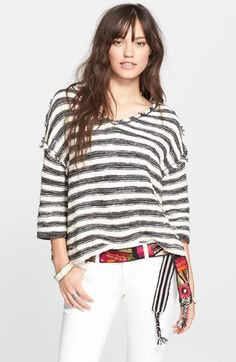 Free+People+'Spells+Trouble'+Stripe+Pullover+available+at+#Nordstrom