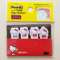 Hello Kitty Page Markers My sister Deb would love these if they were in blue