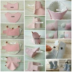 How to sew baby boots