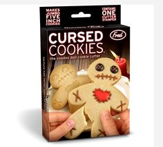 Buy Fred - Cursed Cookies Cookie Cutter online and save! Sticking pins in a voodoo doll is so yesterday. Why not bake a voodoo cookie instead so you can have your revenge and eat it too! Halloween Cookie Cutters, Halloween Cookies, Halloween Party, Halloween Stuff, Halloween Ideas, Voodoo Halloween, Halloween Baking, Christmas Baking, Gingerbread Man