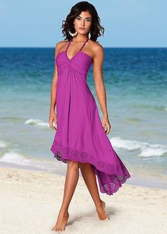 High low halter dress from VENUS women's swimwear and sexy clothing. Order High low halter dress for women from the online catalog or Cute Casual Dresses, Short Dresses, Pretty Outfits, Sexy Outfits, Beach Dresses, Summer Dresses, Mermaid Dresses, Maxi Dresses, Venus Clothing