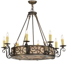 36 Inch W Delano 8 Lt ChandelierA touch of warm opulence is blended with elegantscroll-like styling. This chandelier offers a lovelytransitional style, which is Gothic Chandelier, Tiffany Chandelier, Ceiling Chandelier, Ceiling Lights, Antique Copper, Transitional Style, Accent Decor, Diffuser, Bulb