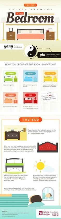 Aplica el Feng Shui en tu dormitorio #infografia #infographic | Las otras infografías
