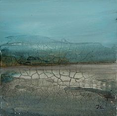 323 ART / Lee Monts: More with Crackle Paste  -- fab paintings!