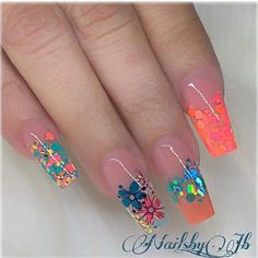 20 Beautiful Nail Art Ideas 2019 For Girls Jb Instagram, Instagram Nails, Bling Nails, Swag Nails, My Nails, Best Acrylic Nails, Summer Acrylic Nails, Gorgeous Nails, Pretty Nails