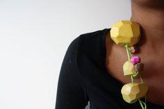 Emily Sarah Smitheram. Necklace. Ceramic, wood and cotton cord. 2016.