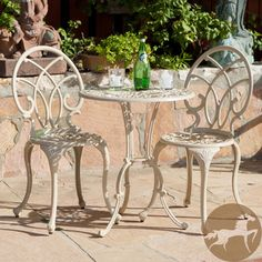 Christopher Knight Home Anacapa Off-white Bistro Set | Overstock.com Shopping - Big Discounts on Christopher Knight Home Bistro Sets