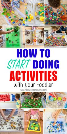 How to Start Doing Kids Activities! - HAPPY TODDLER PLAYTIME IT'S HERE! A complete guide to help you start doing activities with your toddler! It includes all the things you should save & buy. Plus activities to do once you get set up! Activities For 1 Year Olds, Toddler Learning Activities, Indoor Activities For Kids, Games For Toddlers, Sensory Activities, Infant Activities, Family Activities With Toddlers, Toddler Play, Toddler Preschool