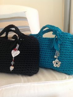 Borse fettuccia crochet